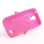 Silikon 3D TUČŇÁK pro Samsung Galaxy S4 mini i9190- růžový - 5/5