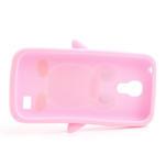 Silikon 3D TUČŇÁK pro Samsung Galaxy S4 mini i9190- světlerůžový - 5/5