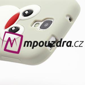 Silikonový Tučňák pouzdro pro Samsung Galaxy S4 i9500- šedý - 5