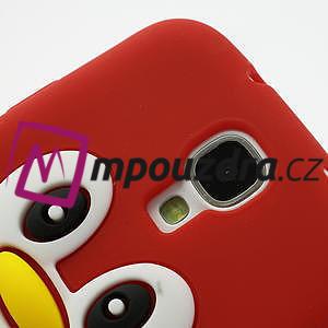 Silikonový Tučňák pouzdro pro Samsung Galaxy S4 i9500- červený - 5