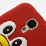 Silikonový Tučňák pouzdro pro Samsung Galaxy S4 i9500- červený - 5/7