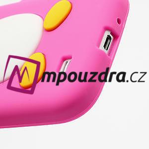 Silikonový Tučňák pouzdro pro Samsung Galaxy S4 i9500- růžový - 5