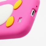 Silikonový Tučňák pouzdro pro Samsung Galaxy S4 i9500- růžový - 5/5