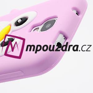 Silikonový Tučňák pouzdro pro Samsung Galaxy S4 i9500- světle-růžový - 5