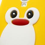 Silikonový Tučňák pouzdro pro Samsung Galaxy S4 i9500- žlutý - 5/7