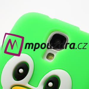 Silikonový Tučňák pouzdro pro Samsung Galaxy S4 i9500- zelený - 5