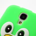 Silikonový Tučňák pouzdro pro Samsung Galaxy S4 i9500- zelený - 5/6