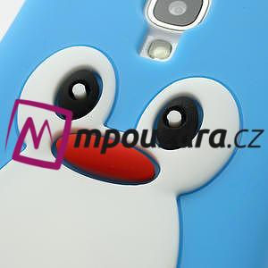Silikonový Tučňák pouzdro pro Samsung Galaxy S4 i9500- světle-modrý - 5