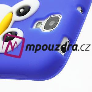 Silikonový Tučňák pouzdro pro Samsung Galaxy S4 i9500- modrý - 5