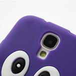 Silikonový Tučňák pouzdro pro Samsung Galaxy S4 i9500- fialový - 5/6