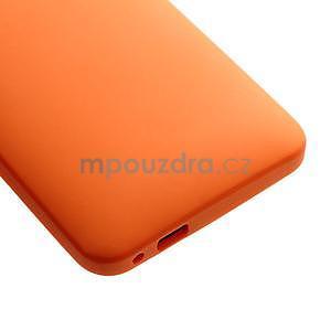 Silikonové pouzdro pro HTC one M7- oranžové - 5