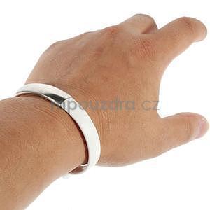 Multifunkční náramek micro USB, bílý - 5