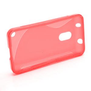 Gelové S-line pouzdro na Nokia Lumia 620- červené - 5