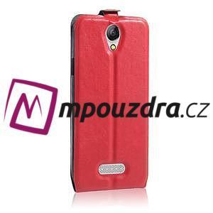 GT flipové PU kožené pouzdro na mobil Doogee X6 - červené - 5