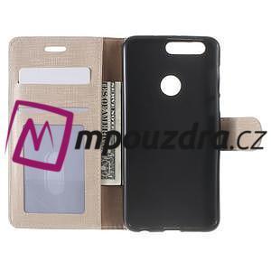 Clothy peněženkové pouzdro na mobil Honor 8 - zlaté - 5