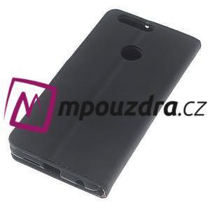 Clothy peněženkové pouzdro na mobil Honor 8 - černé - 5