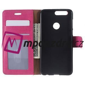 Clothy peněženkové pouzdro na mobil Honor 8 - rose - 5