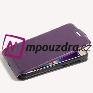 Flipové PU kožené pouzdro na Huawei Y3 II - fialové - 5