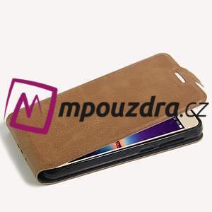 Flipové PU kožené pouzdro na Huawei Y3 II - hnědé - 5