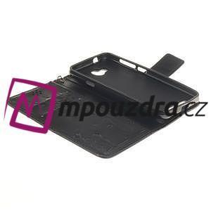 Dandelion PU kožené pouzdro na mobil Huawei Y3 II - černé - 5