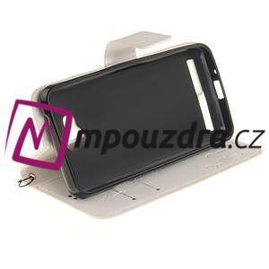 Dandelion PU kožené pouzdro na mobil Huawei Y3 II - bílé - 5