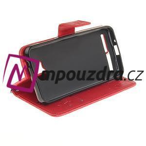 Dandelion PU kožené pouzdro na mobil Huawei Y3 II - červené - 5