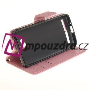 Dandelion PU kožené pouzdro na mobil Huawei Y3 II - růžové - 5