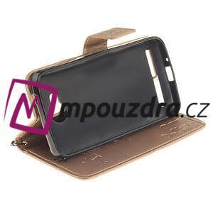 Dandelion PU kožené pouzdro na mobil Huawei Y3 II - zlaté - 5
