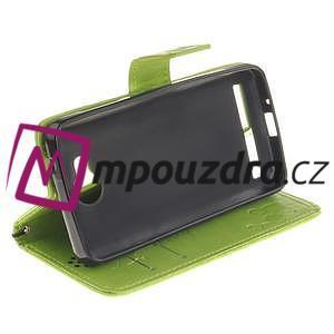 Dandelion PU kožené pouzdro na mobil Huawei Y3 II - zelené - 5