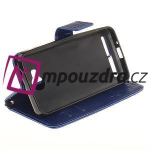 Dandelion PU kožené pouzdro na mobil Huawei Y3 II - modré - 5