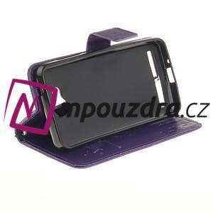 Dandelion PU kožené pouzdro na mobil Huawei Y3 II - fialové - 5