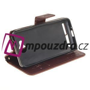 Dandelion PU kožené pouzdro na mobil Huawei Y3 II - hnědé - 5