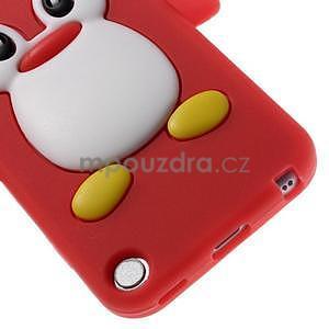 Penguin silikonový obal na iPod Touch 6 / iPod Touch 5 - červený - 5