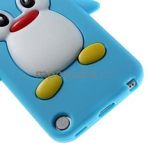 Penguin silikonový obal na iPod Touch 6 / iPod Touch 5 - světle modrý - 5