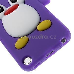 Penguin silikonový obal na iPod Touch 6 / iPod Touch 5 - fialový - 5