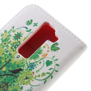 Emotive PU kožené pouzdro na LG K8 - zelený strom - 5