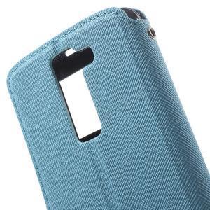 Diary PU kožené pouzdro s okýnkem na LG K8 - světlemodré - 5