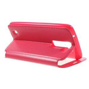 Richi PU kožené pouzdro na mobil LG K8 - rose - 5
