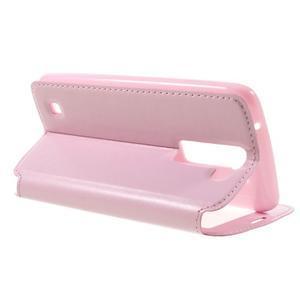 Richi PU kožené pouzdro na mobil LG K8 - růžové - 5