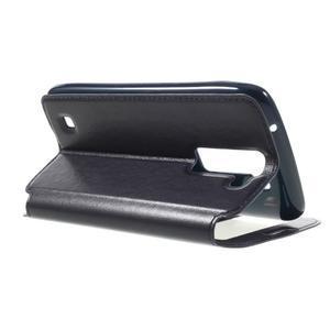 Richi PU kožené pouzdro na mobil LG K8 - tmavěmodré - 5
