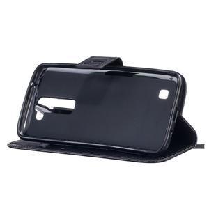 Dandelion PU kožené pouzdro na mobil LG K8 - černé - 5