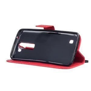 Dandelion PU kožené pouzdro na mobil LG K8 - červené - 5