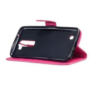Dandelion PU kožené pouzdro na mobil LG K8 - rose - 5