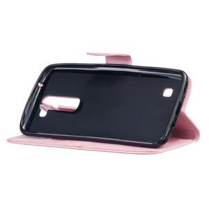 Dandelion PU kožené pouzdro na mobil LG K8 - růžové - 5