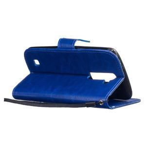 Dandelion PU kožené pouzdro na mobil LG K8 - modré - 5