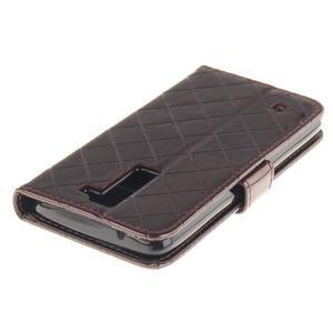 Luxusní PU kožené pouzdro s přezkou na LG K8 - hnědé - 5