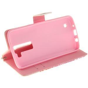 Style PU kožené pouzdro na LG K8 - barevná mandala - 5