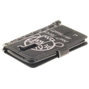 Style PU kožené pouzdro na LG K8 - nešahat - 5