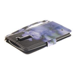 Style PU kožené pouzdro na LG K8 - fialové květiny - 5