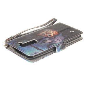 Style PU kožené pouzdro na LG K8 - sovičky - 5